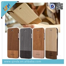 Luxury flip wood case for iphone 6