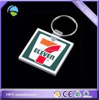 custom sharp square soft EVA pvc plastic foams key chain