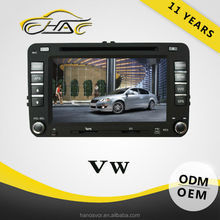 2 Din Touch Screen Car DVD Player For VW Golf GPS Navigation Radio Audio System With Rear-view Camera