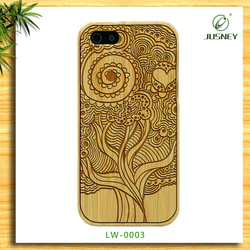 Factory wholesale popular real natural cherry wood cases for iphone 5