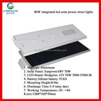 Solar Panel 18V 86W 50W Bluetooth Control All in One Solar Street Light