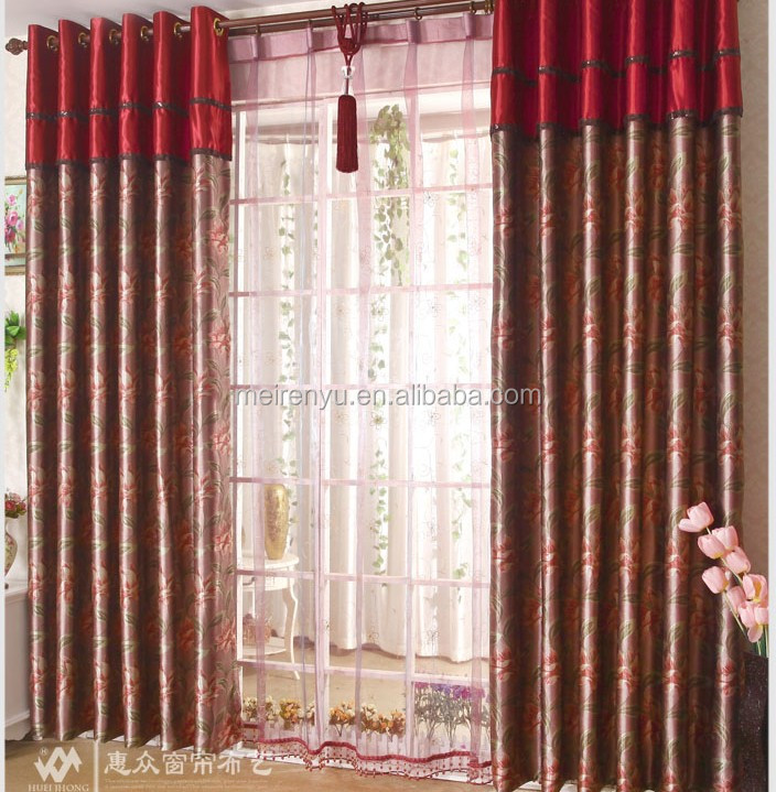 3d print wedding bedroom living room curtain custom 2015 - Latest curtain design for living room ...