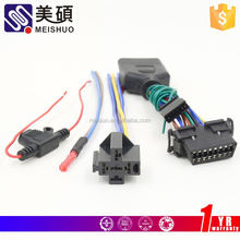 Meishuo factory 12v h4 hid xenon headlight fog lamp relay wire harness with fuse