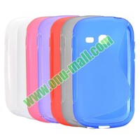 Fashionable S-Shape TPU skin cover for samsung galaxy fame lite with good quality