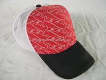 Fashionable mesh trucker hat custom ethereal trucker cap red sponge trucker mesh hat with slender embroidery