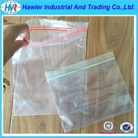 Clear low density polythene zip lock plastic bags