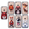 cartoon animal Ring Metal Holder pc hard Phone Case For Iphone 6S Phone Bag case cover