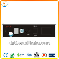 2013 electronic graphic overlay tablet membrane keypad bottons of control panel switch