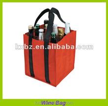 guangzhou four bottle non woven wine carrying bag