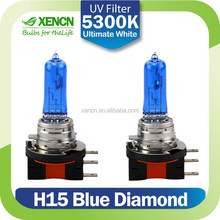 XENCN H15 12V 55/15W 5300K Blue Diamond Light Xenon Ultimate White day time running light Car Headlight Replace Upgrade Bulb