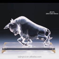 Clear Crystal Bull Figurine For Gift JB107