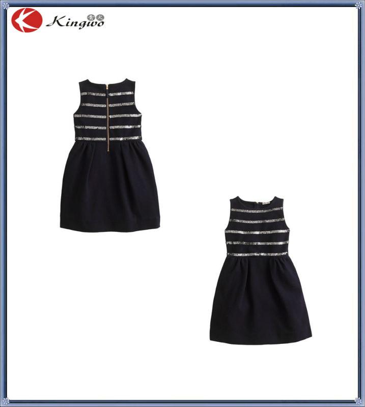 Grils puffer sequin vestido preto/kid meninas/crianças de aniversário sem mangas vestido de <span class=keywords><strong>festa</strong></span>