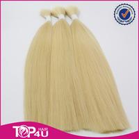 Top quality cheap remy russian hair blonde hair bundles real hair for sale