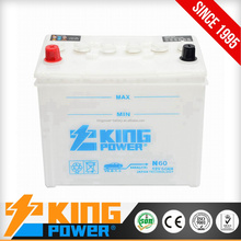 battery for car batteries 12V60AH dry charge battery