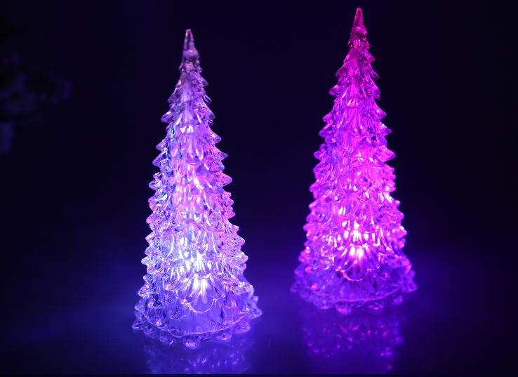 Banberry designs led lighted acrylic christmas trees holiday