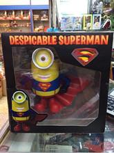 Despreciable superman me minion Ver figuras de plástico personaje de dibujos animados al por mayor, figura de plástico 3D