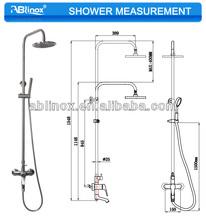 lluvia establecer la columna Juego de ducha ablinox acero inoxidable / Expuestos de ducha de lluvia