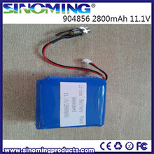 11.1V 2800mah Li-polymer battery 904856 size model with its charger