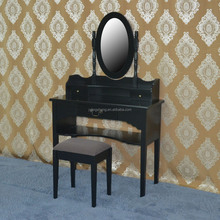 Wooden black painted antique dressing table living room furniture