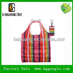 2014 Fold Up Polyester Bag With Press Button Pouch