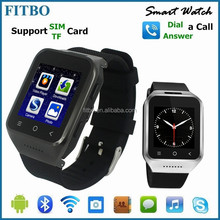 Portable Wearable MTK6572 Sync Interent 3G camera watch phone mobile