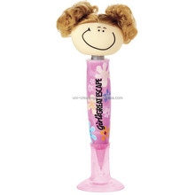 Funny character Pig-Tailed girl promotion ball pen