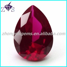 Factory Price Pear Shape Synthetic Ruby