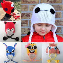Wholesale Cute handmade crocheted cartoon hat baby crochet beanie hats
