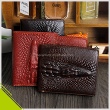 High Quality Genuine Leather Money Clip/Man travel wallet/Customized leather man wallet