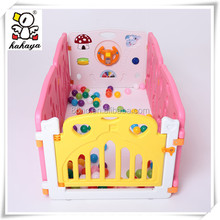 Durable Plastic Custom Kids Safety Play Zone, Attractive Colorful Baby Play Pen with Game