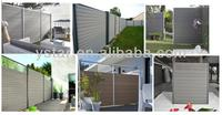 Weather protect Portable Wood Garden WPC Fence