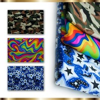 Printed nylon spandex fabric/wet printed/swimwear fabric