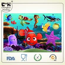 Pet lenticular 3d imagem dos desenhos animados, Personalizado 3d fotos com quadro da foto