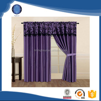2015 Hot polyester type of office hotel window curtain blackout dark color