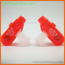 Custom Promotional Translucent Finger LED Lights With Silicone Ring