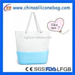 Waterproof Nylon Tote Bag Beach Bag Simplicity Handbag silicone bottom bag