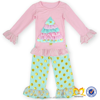 Sweet Fashion Girl Child Knitwear Persnickety Cute Baby Clothes Wholesale Children Boutique Christmas Outfit Clothing
