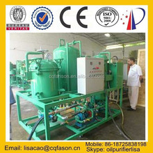 Double pumps double temperature controls safe waste oil to diesel lubricant oil distillation plant