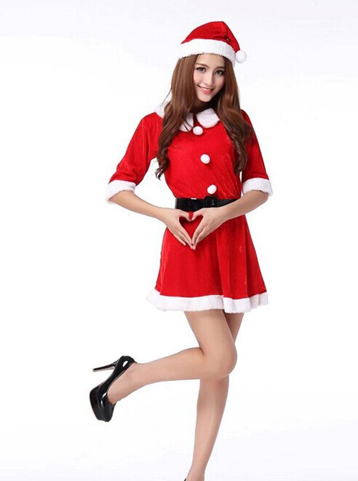 Trajes de navidad para mujer azul - Disfraces duendes navidenos ...