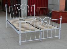 Metal bed, powder paiting bed, bedroom furniture