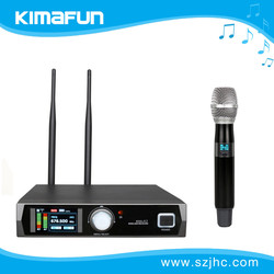 Cheap Wireless Microphone With Black Handheld MIC For Singer