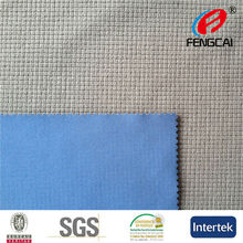 China Manufacturer High quality checked velvet Bonded elastic knit fabric with tpu