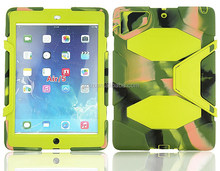 Army duty camouflage personalized mixed colors tab case for iPad air sand snow dirt proof shell cover