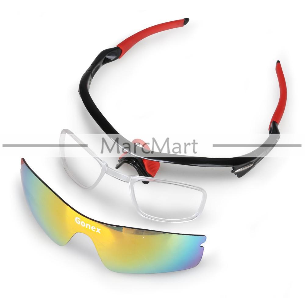 gonex Велоспорт солнце защитные google очки uv400 5 линз gafas ciclismo велосипедные очки #hp550