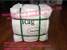 White new 100% cotton rags with lower price