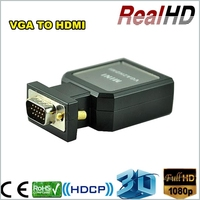 Top selling product economic metal case full HD mini vga 2 hdmi converter/the scart hdmi adapter