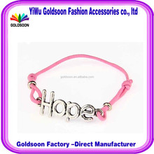 fashion elastic rope bracelet gift party jewelry sales promotion Alloy letters charm bracelet