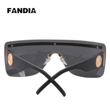 86 ewfdy 96,874 new trend fashion classic piece rimless sunglasses big box sunglasses metal decoration