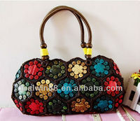 New comcept coconut lady handbag fashion coconut shell bag