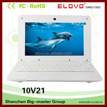 cheap quality 10inch laptop mini super slim dual core laptop computer 10inch VIA WM8880 with SD and USB jacks Android laptop